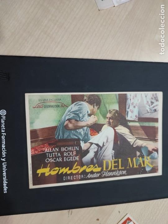 FOLLETO DE MANO HOMBRES DEL MAR , ALLAN BOHLIN (Cine - Folletos de Mano - Drama)