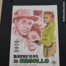 Cine: FOLLETO DE MANO BARRERAS DE ORGULLO , VAN JOHNSON ,. Lote 278543448