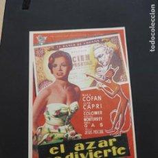 Cine: FOLLETO DE MANO EL AZAR SE DIVIERTE , MARIA COFAN ,. Lote 278543463