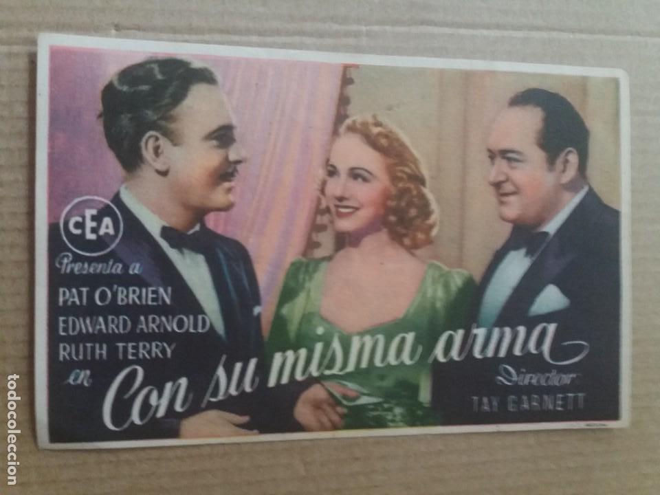 CON SU MISMA ARMA CON PUBLICIDAD TEATRO MAIQUEZ CARTAGENA (Cine - Folletos de Mano - Comedia)