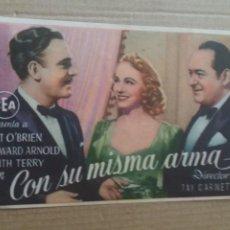 Cine: CON SU MISMA ARMA CON PUBLICIDAD TEATRO MAIQUEZ CARTAGENA. Lote 278609873
