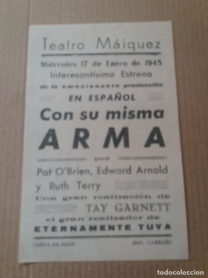 Cine: Con su misma arma con Publicidad Teatro Maiquez Cartagena - Foto 2 - 278609873