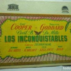Cine: PROGRAMA DOBLE LOS INCONQUISTABLES - GARY COOPER. Lote 278813588