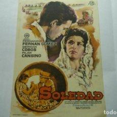 Cine: PROGRAMA SOLEDAD F.FERNAN GOMEZ -PUBLICIDAD ATENEO-SALLENT. Lote 278843848