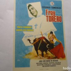 Cine: PROGRAMA FRAY TORERO -PACO CAMINO. Lote 278844743
