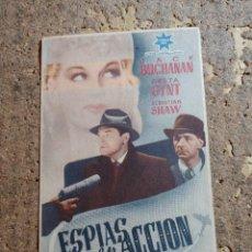 Cine: FOLLETO DE MANO DE LA PELICULA ESPIAS EN ACCION CON PUBLICIDAD. Lote 278936913