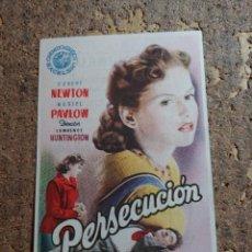 Cine: FOLLETO DE MANO DE LA PELICULA PERSECUCION CON PUBLICIDAD. Lote 278939368