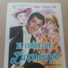 Cine: EL CONDE DE LUXEMBURGO. Lote 278942868