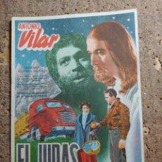 Cine: FOLLETO DE MANO DE LA PELICULA EL JUDAS. Lote 278944128