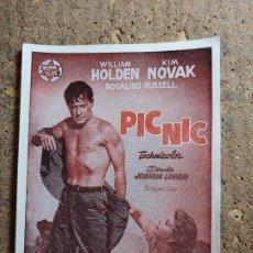 Foglietti di film di film antichi di cinema: FOLLETO DE MANO DE LA PELICULA PIC NIC. Lote 278945053