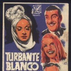 Cine: P-2779- TURBANTE BLANCO (DOBLE) (COLISEO IMPERIAL - CALATAYUD) ANTONIO BOFARULL - RAÚL CANCIO. Lote 278969513