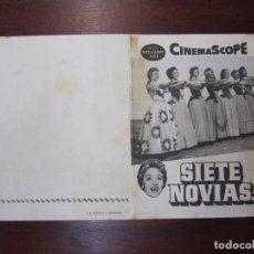 Cine: SIETE NOVIAS PARA SIETE HERMANOS - FOLLETO MANO ORIGINAL DOBLE - JANE POWELL STANLEY DONEN. Lote 279403533