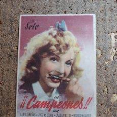 Cine: FOLLETO DE MANO DE LA PELICULA CAMPEONES. Lote 279413718