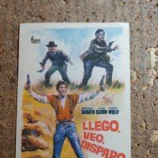 Cine: FOLLETO DE MANO DE LA PELICULA LEGO VEO DISPARO. Lote 279413913