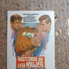 Cine: FOLLETO DE MANO DE LA PELICULA HISTORIA DE UNA MUJER. Lote 279413983