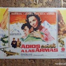 Cine: FOLLETO DE MANO DE LA PELICULA ADIOS A LAS ARMAS. Lote 279414213