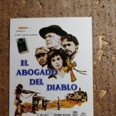 Cine: FOLLETO DE MANO DE LA PELICULA EL ABOGADO DEL DIABLO. Lote 279414353