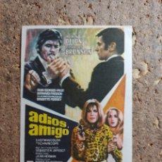 Cine: FOLLETO DE MANO DE LA PELICULA ADIOS AMIGO. Lote 279414483