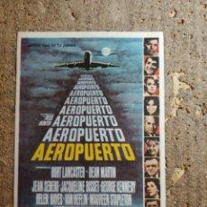 Cine: FOLLETO DE MANO DE LA PELICULA AEROPUERTO. Lote 279414543