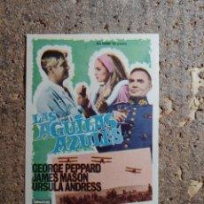 Folhetos de mão de filmes antigos de cinema: FOLLETO DE MANO DE LA PELICULA LAS AGUILAS AZULES. Lote 279414618