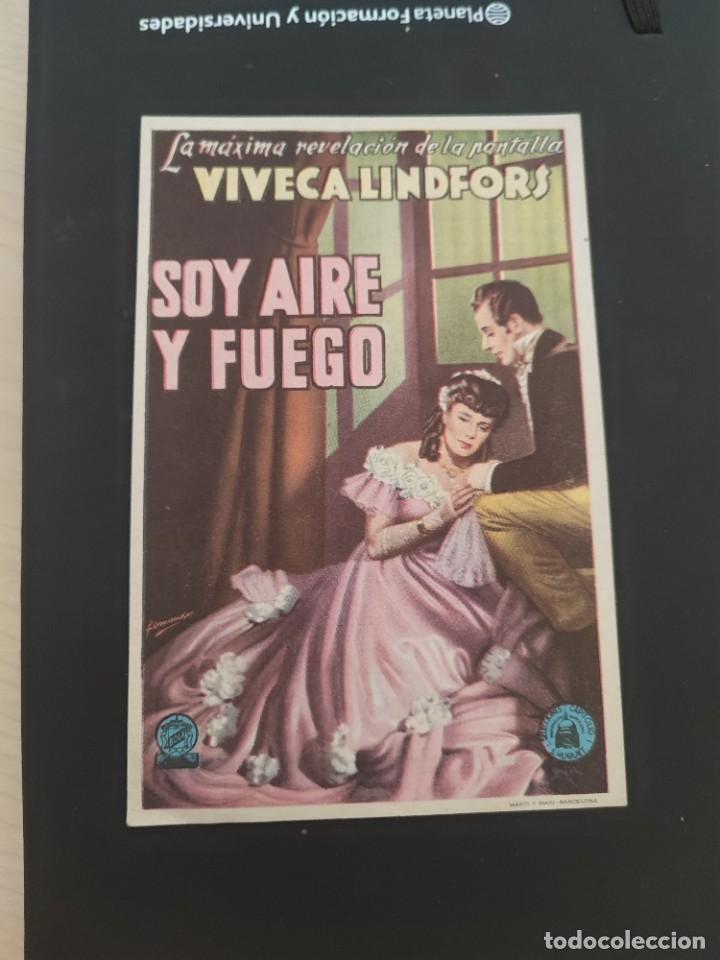 FOLLETO DE MANO SOY AIRE Y FUEGO , VIVANCA LINDFORS , (Cine - Folletos de Mano - Drama)