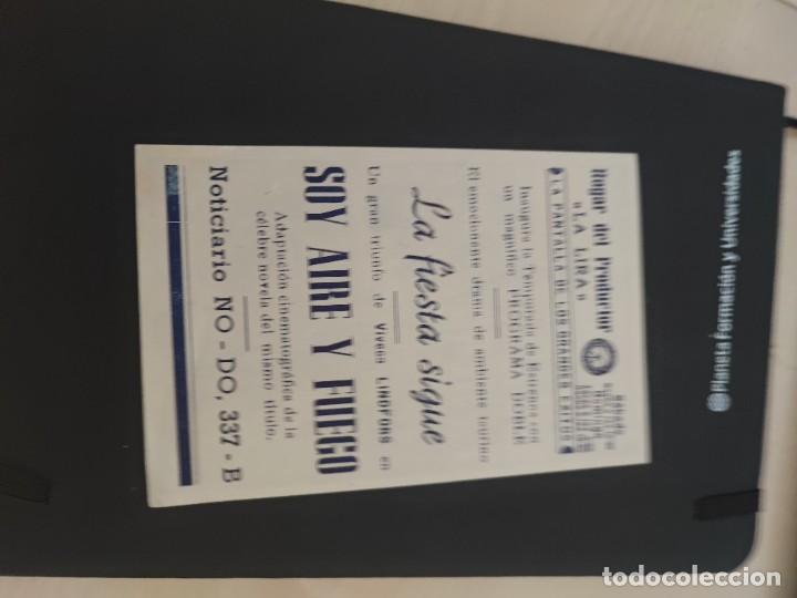 Cine: folleto de mano SOY AIRE Y FUEGO , Vivanca lindfors , - Foto 2 - 279419358