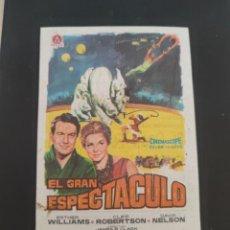 Cine: FOLLETO DE MANO EL GRAN ESPECTACULO , ESTHER WILLIAMS , 1964. Lote 279419588