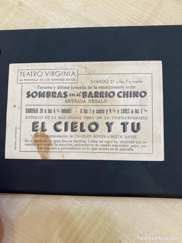 Cine: folleto de mano ; EL CIELO Y TU ; Bette Davis - Foto 2 - 279419703