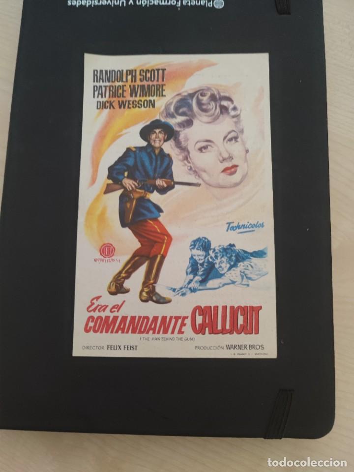 FOLLETO DE MANO ERA EL COMANDANTE CALLCUT , RANDOLPH SCOTT , 1956 (Cine - Folletos de Mano - Drama)