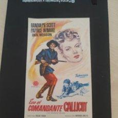 Cine: FOLLETO DE MANO ERA EL COMANDANTE CALLCUT , RANDOLPH SCOTT , 1956. Lote 279419733