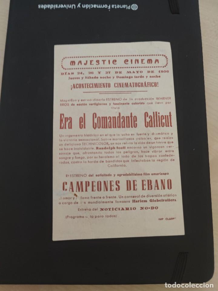 Cine: folleto de mano ERA EL COMANDANTE CALLCUT , Randolph Scott , 1956 - Foto 2 - 279419733