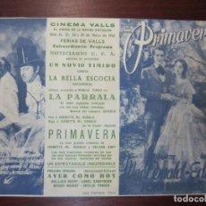 Cine: MANON LESCAUT - FOLLETO MANO ORIGINAL DOBLE - VITTORIO DE SICA ALIDA VALLI CARMINE GALLONE - IMPRESO. Lote 279419743
