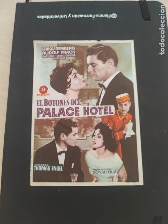 FOLLETO DE MANO EL BOTONES DEL PALACE HOTEL , ERIKA REMBERG , (Cine - Folletos de Mano - Drama)