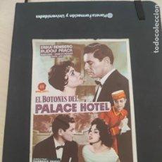 Cine: FOLLETO DE MANO EL BOTONES DEL PALACE HOTEL , ERIKA REMBERG ,. Lote 279419853