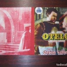 Cine: OTELO - FOLLETO MANO ORIGINAL DOBLE - ORSON WELLES WILLIAM SHAKESPEARE SUZANNE CLOUTIER CIFESA. Lote 279419938