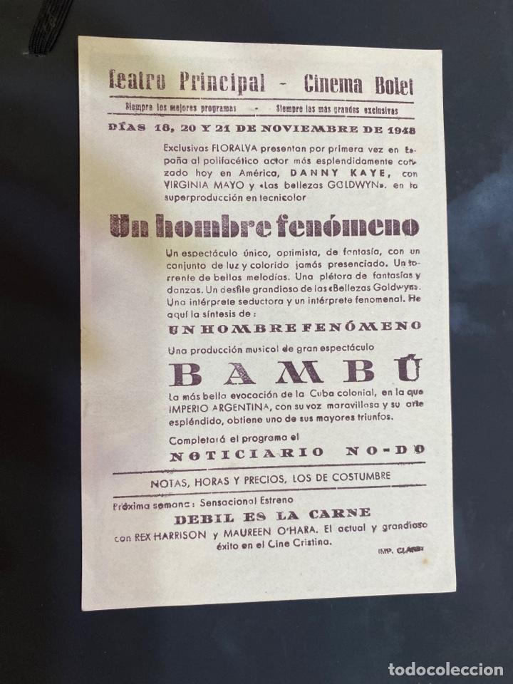 Cine: folleto de mano ; UN HOMBRE FENÓMENO ; 1948 ; Danny Kaye - Foto 2 - 279419983