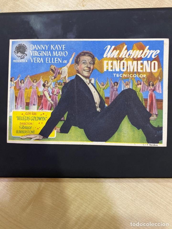 FOLLETO DE MANO ; UN HOMBRE FENÓMENO ; 1948 ; DANNY KAYE (Cine - Folletos de Mano - Drama)