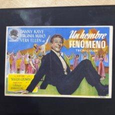 Cine: FOLLETO DE MANO ; UN HOMBRE FENÓMENO ; 1948 ; DANNY KAYE. Lote 279419983