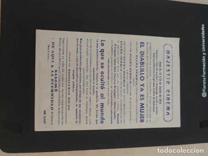 Cine: folleto de mano LO QUE SE OCULTO AL MUNDO , Julio Villarreal , 1954 - Foto 2 - 279420023