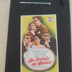 Cine: FOLLETO DE MANO UN CASADO EN APUROS , MARJORIE REYNOLDS , DENNIS O'KEEFE , GAIL PATRICK , MISCHA AUE. Lote 279420168