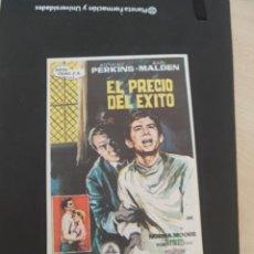 Cine: FOLLETO DE MANO EL PRECIO DEL EXITO , ATHONY PERKINS , 1966. Lote 279420228