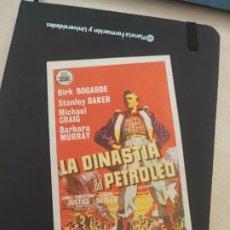 Cine: FOLLETO DE MANO LA DINASTIA DEL PETROLEO , DIRK BOGARDE , 1959. Lote 279420273