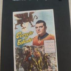 Cine: FOLLETO DE MANO SECRETO DE ESTADO , DOUGLAS FAIRBANKS , 1951. Lote 279420383