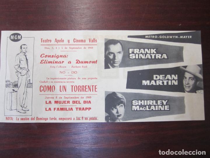 COMO UN TORRENTE - FOLLETO MANO ORIGINAL DOBLE - SHIRLEY MACLAINE FRANK SINATRA DEAN MARTIN IMPRESO (Cine - Folletos de Mano - Drama)