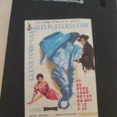 Cine: FOLLETO DE MANO EL TREN DE LAS 3:10 . GLENN FORD 1959. Lote 279420593