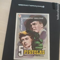 Cine: FOLLETO DE MANO 5 PISTOLAS , DOROTHY MALONE , 1959. Lote 279420648