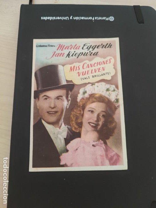 FOLLETO DE MANO MIS CANCIONES VUELVEN , MARTA EGGERTH , 1953 (Cine - Folletos de Mano - Drama)