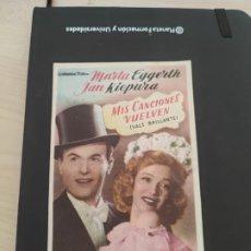 Cine: FOLLETO DE MANO MIS CANCIONES VUELVEN , MARTA EGGERTH , 1953. Lote 279420883