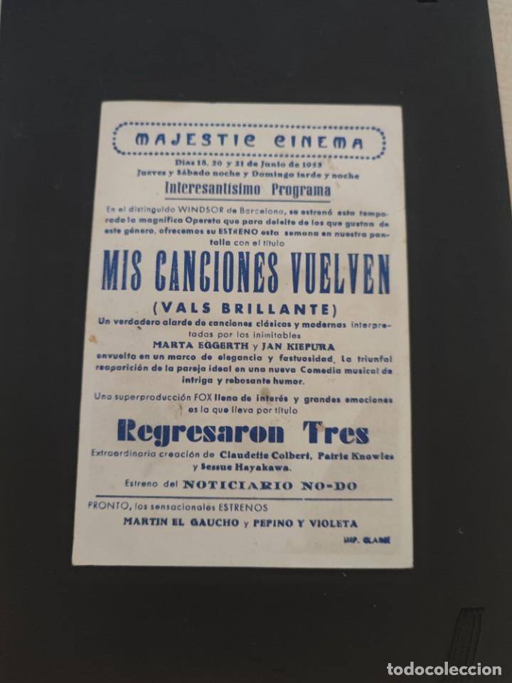 Cine: folleto de mano MIS CANCIONES VUELVEN , Marta Eggerth , 1953 - Foto 2 - 279420883