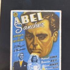 Cine: FOLLETO DE MANO ; ABEL SÁNCHEZ ; MANUEL LUNA ;. Lote 279421033